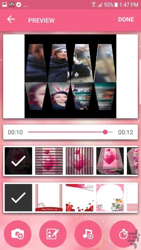 ساخت کلیپ با عکس و موزیک - عکس برنامه موبایلی اندروید