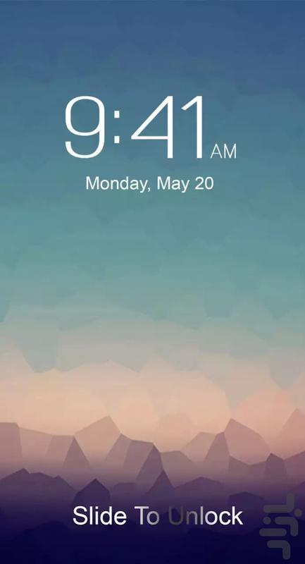 صفحه قفل آیفون 7 - عکس برنامه موبایلی اندروید