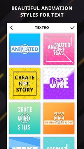 Textro: Animated Text Video - عکس برنامه موبایلی اندروید