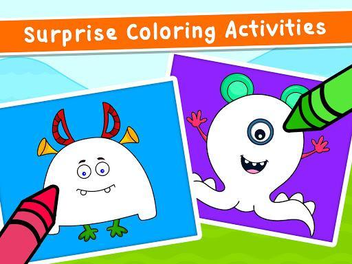 Coloring Games for Kids - Drawing & Color Book - عکس بازی موبایلی اندروید