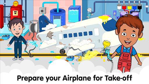 Tizi Airport: My Airplane Games for Kids Free - عکس بازی موبایلی اندروید