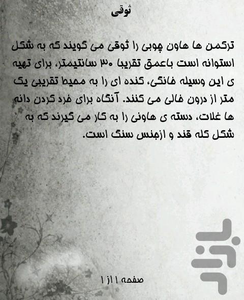 کلمات کاربردی فارسی به ترکمنی - عکس برنامه موبایلی اندروید