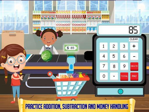 Grocery Market Kids Cash Register - Games for Kids - عکس بازی موبایلی اندروید