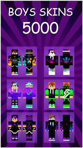Boys Skins For Minecraft PE - عکس برنامه موبایلی اندروید