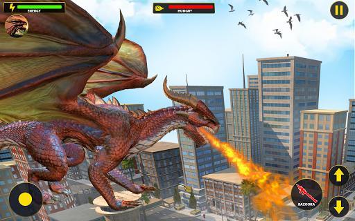 Flying Dragon City Attack- Dragon Games 2021 - عکس برنامه موبایلی اندروید