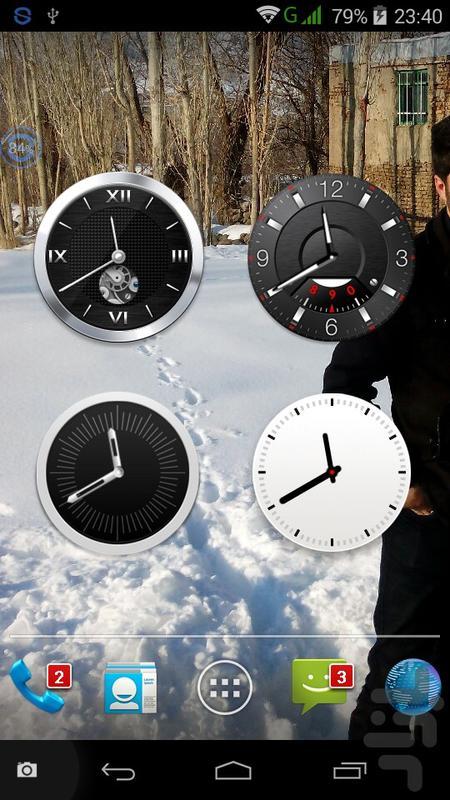 ساعت آنالوگ 8*1 - عکس برنامه موبایلی اندروید