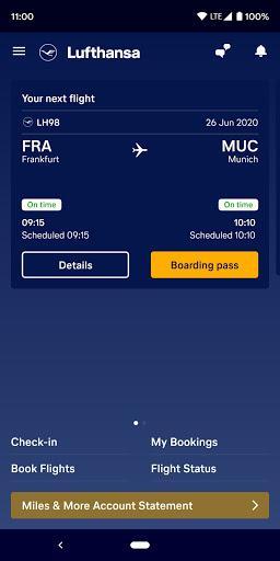 Lufthansa - عکس برنامه موبایلی اندروید