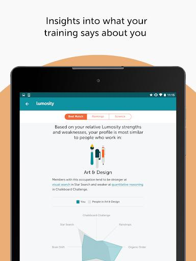 Lumosity: Brain Training - عکس برنامه موبایلی اندروید