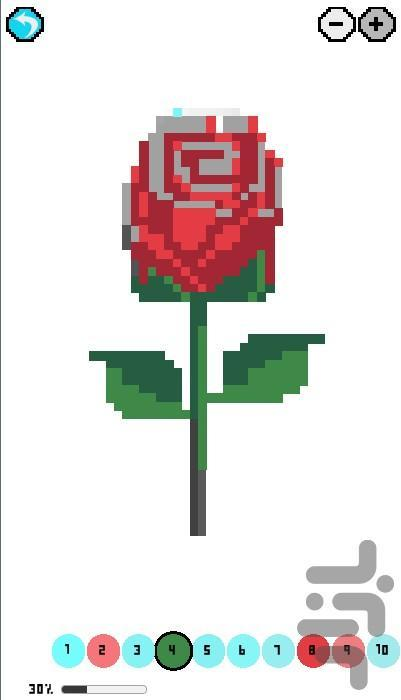 بازی زیبا و اعتیاد آور نقاشی پیکسلی - عکس بازی موبایلی اندروید