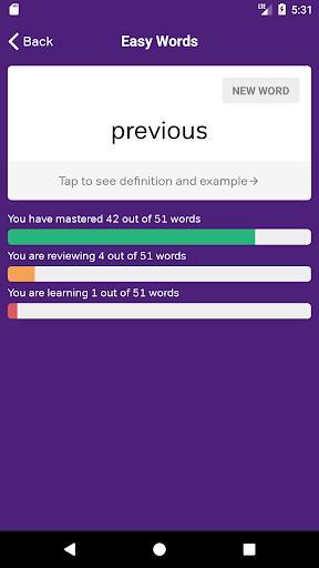 TOEFL English Vocabulary Cards - عکس برنامه موبایلی اندروید