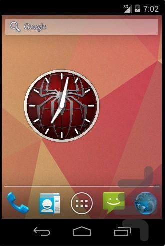 ویجت ساعت مرد عنکبوتی - عکس برنامه موبایلی اندروید