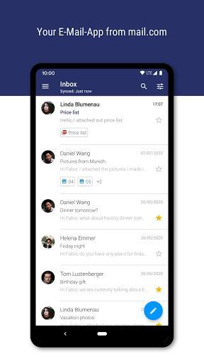 mail.com Mail & Cloud - عکس برنامه موبایلی اندروید