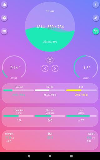 Calorie Counter - EasyFit free - عکس برنامه موبایلی اندروید