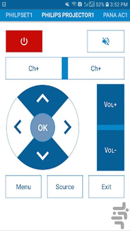 ریموت کنترل همه کاره - عکس برنامه موبایلی اندروید