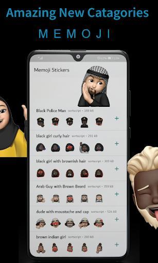 Memoji Stickers for whatsapp apple Wastickerapps - عکس برنامه موبایلی اندروید