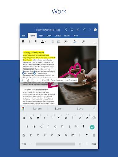 Microsoft Word: Write, Edit & Share Docs on the Go - عکس برنامه موبایلی اندروید