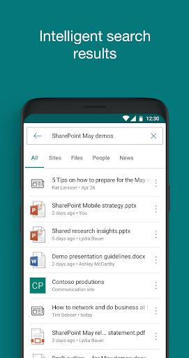 Microsoft SharePoint - عکس برنامه موبایلی اندروید