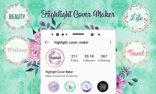 Highlight Cover Maker - Covers For Instagram Story - عکس برنامه موبایلی اندروید