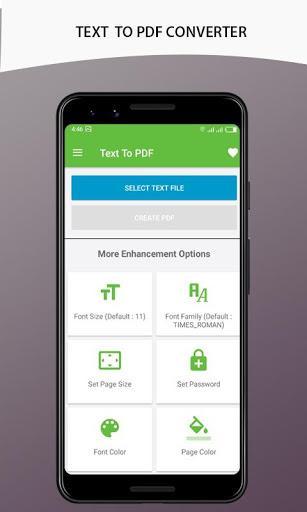 PDF CONVERTER (IMAGE TEXT EXCEL to PDF ) - عکس برنامه موبایلی اندروید
