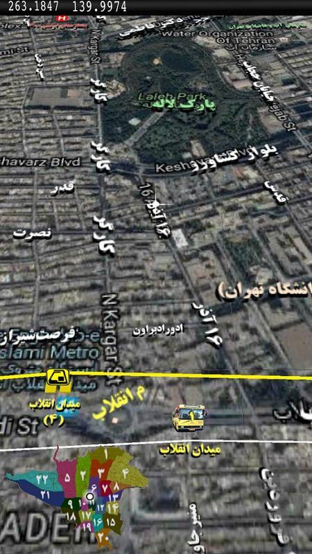 نقشه تهران - عکس برنامه موبایلی اندروید