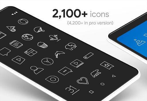 Lines - Icon Pack - عکس برنامه موبایلی اندروید