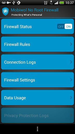 Mobiwol: NoRoot Firewall - عکس برنامه موبایلی اندروید