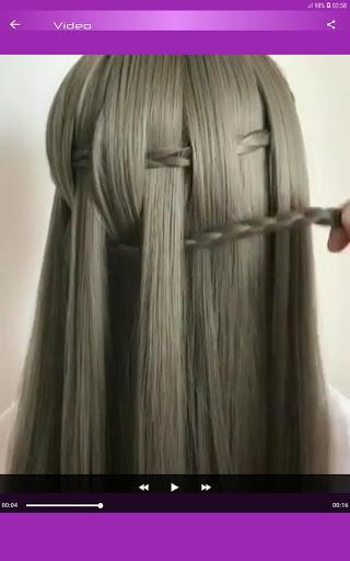 Hairstyles Step by Step Videos (Offline) - عکس برنامه موبایلی اندروید
