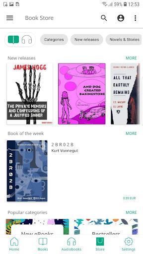 PocketBook reader free reading epub, pdf, cbr, fb2 - Image screenshot of android app
