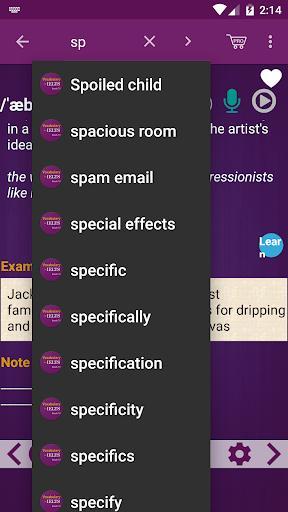 Vocabulary for IELTS - IELTS Full - عکس برنامه موبایلی اندروید