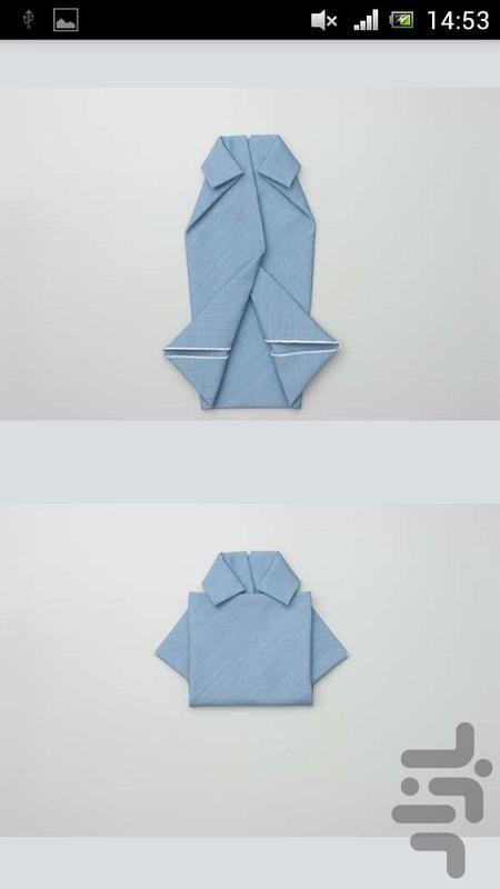 آموزش تزئین دستمال سفره - عکس برنامه موبایلی اندروید
