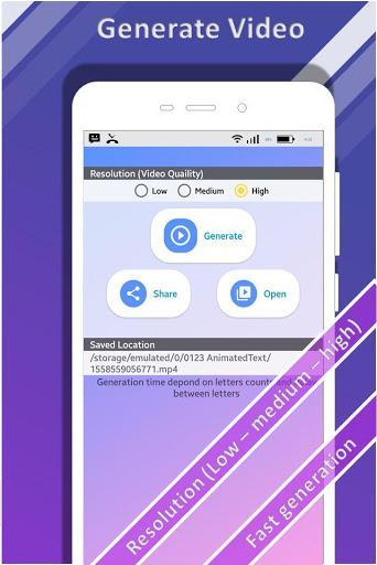 Animated Text Creator - Text Animation video maker - عکس برنامه موبایلی اندروید