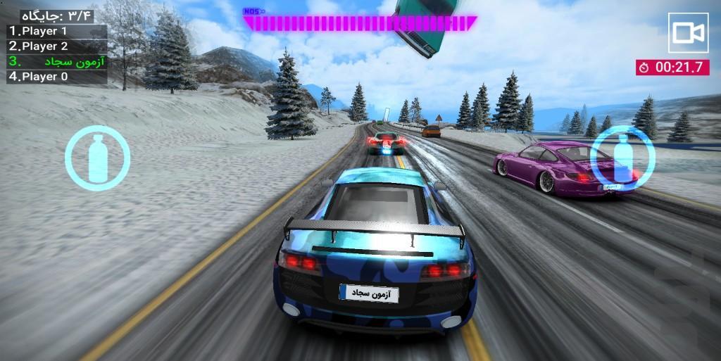 سرعت آنلاین : بازی ماشین - عکس بازی موبایلی اندروید