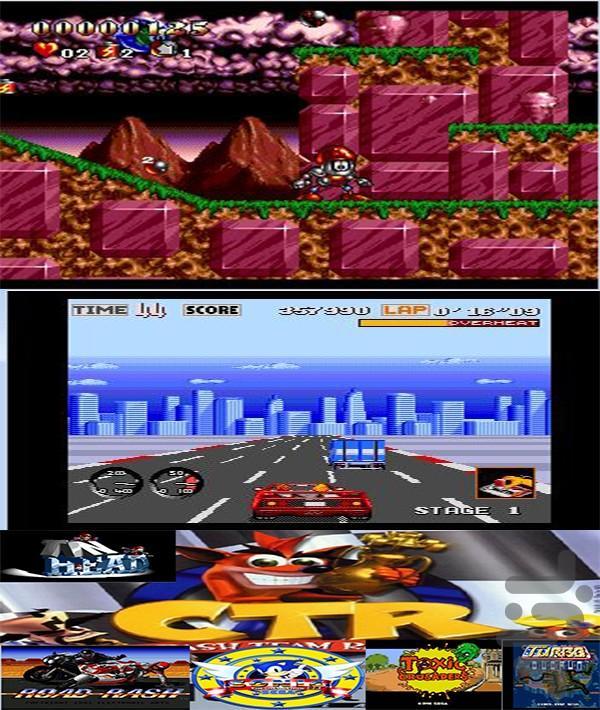 کراش ماشینی+ 5بازی دیگر - عکس بازی موبایلی اندروید
