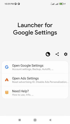 Launcher for Google Settings and My Account - عکس برنامه موبایلی اندروید