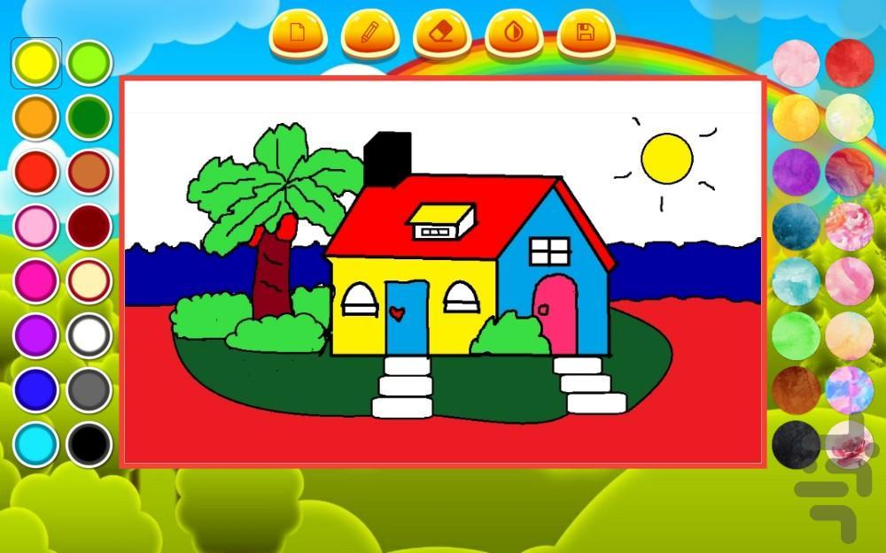 نقاشی با آبرنگ   کودکانه - عکس برنامه موبایلی اندروید