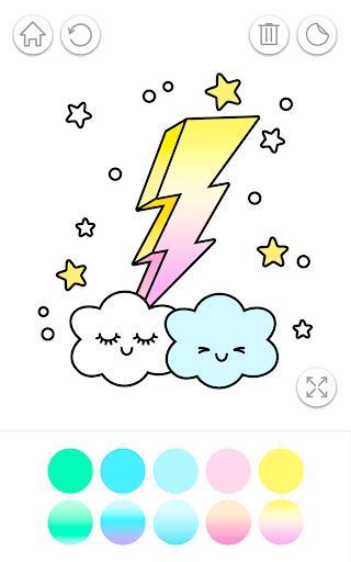 Gradient Kawaii Coloring Book - عکس برنامه موبایلی اندروید