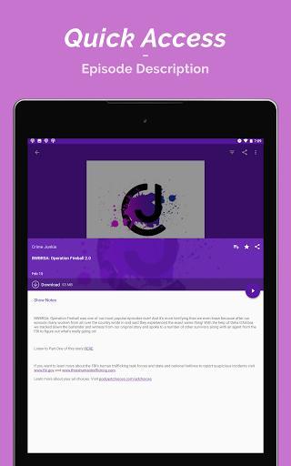 Podcast Player - عکس برنامه موبایلی اندروید