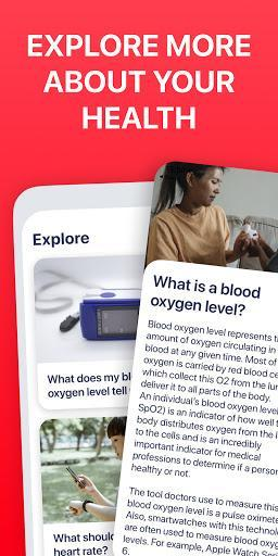 Blood Oxygen App - Pulse Oximeter - عکس برنامه موبایلی اندروید