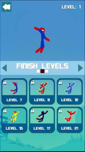 Super Hero Hook: Stickman Rope Swing - عکس بازی موبایلی اندروید