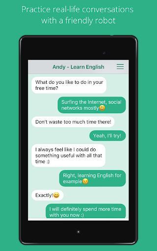 Andy - English Speaking Bot - عکس برنامه موبایلی اندروید
