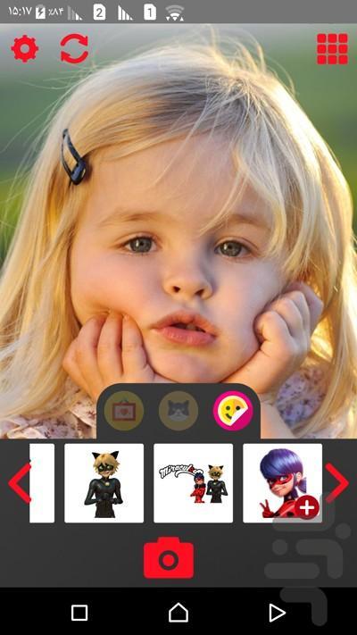 دوربین دختر کفشدوزکی - عکس برنامه موبایلی اندروید
