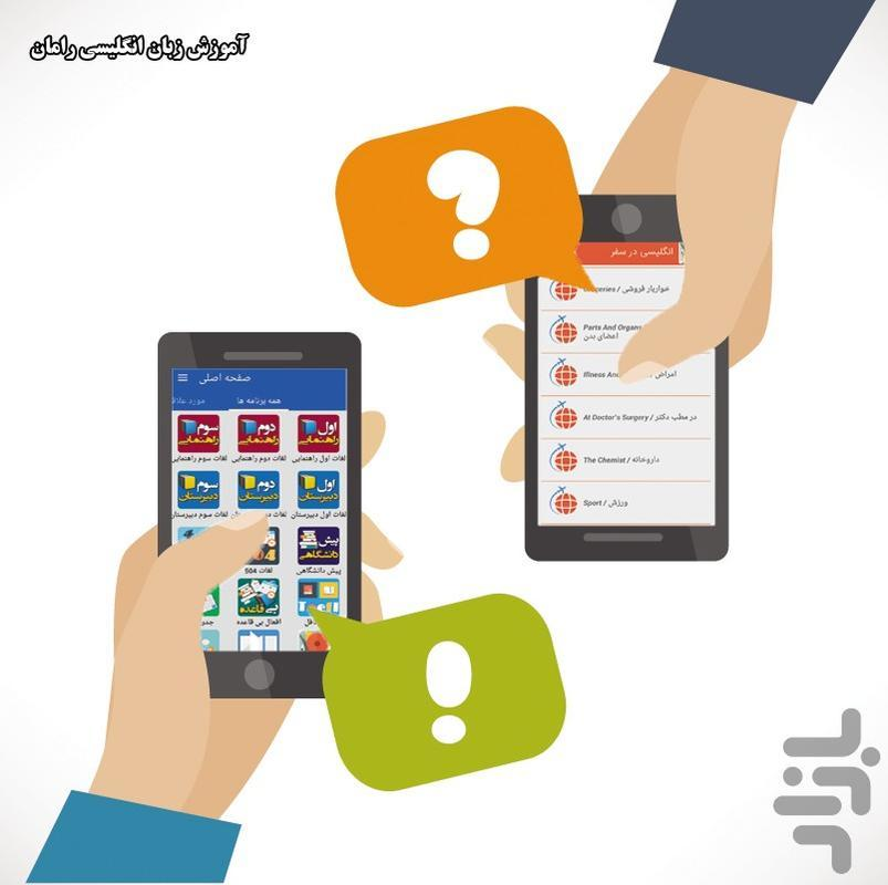 آموزش زبان انگلیسی رامان - عکس برنامه موبایلی اندروید