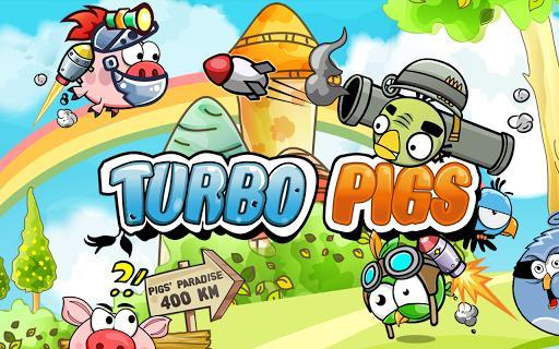 Turbo Pigs - Run Piggy Run! - عکس بازی موبایلی اندروید