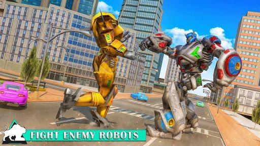 Flying Wild Tiger Robot Game - عکس بازی موبایلی اندروید