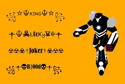 FF Nickname Generator ⚡ Symbols Creator 4 FF Nicks - عکس برنامه موبایلی اندروید