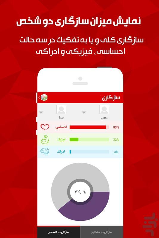 رمزیابی رفتار (بیوریتم) - عکس برنامه موبایلی اندروید