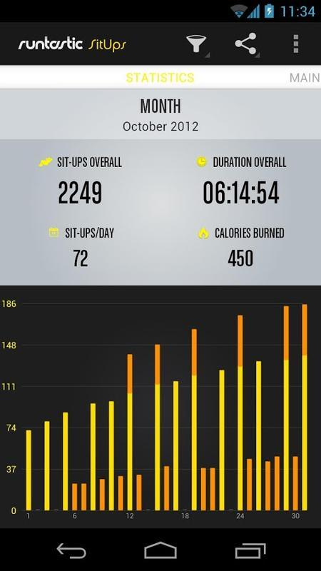 Runtastic Sit-Ups Workout - Image screenshot of android app