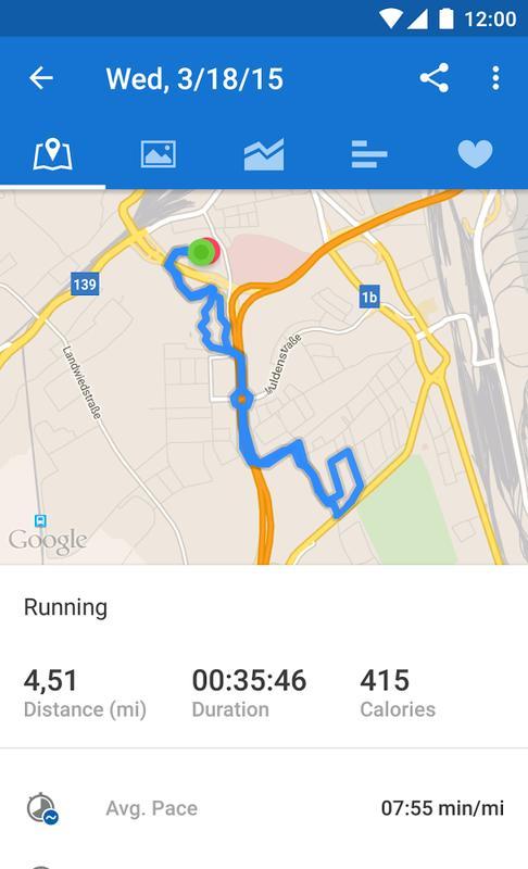 Runtastic Running - عکس برنامه موبایلی اندروید