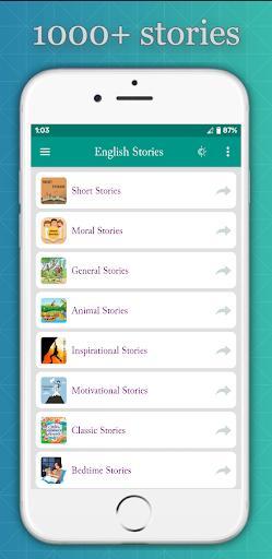 1000 English Stories (Offline) - عکس برنامه موبایلی اندروید