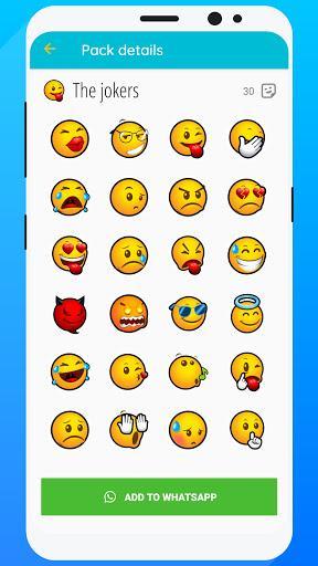 WeSmile WAStickerApps - Best smileys stickers - عکس برنامه موبایلی اندروید